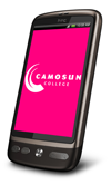 Phone with Camosun logo